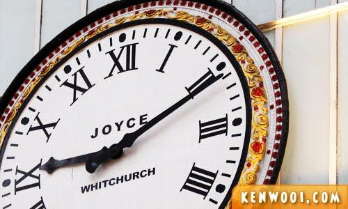 big clock on wall