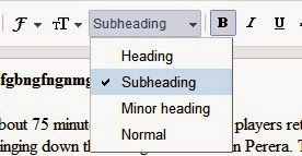 Style Sub-Headings In Your Blogger's Post Using CSS
