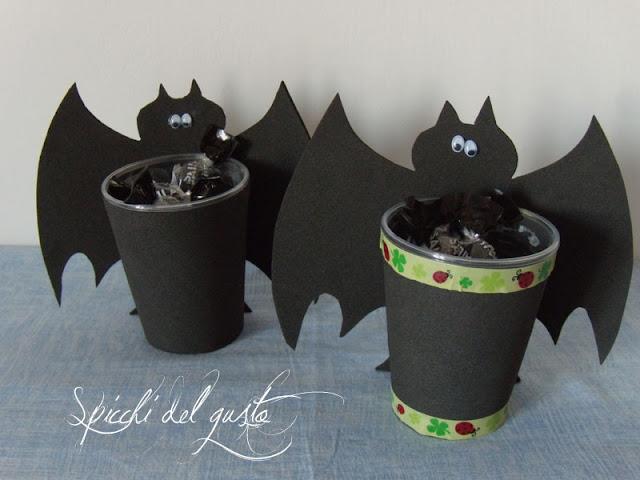 halloween creativo con i pipistrelli portacaramelle