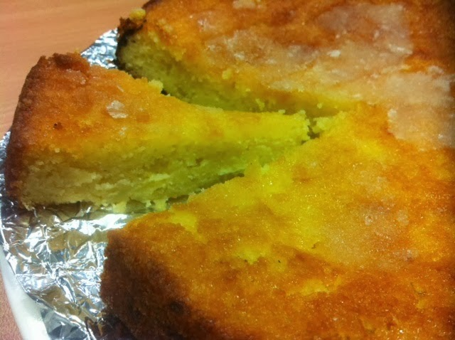 The end result is a rather lovely, pudding-like, lemon-scented cake:
