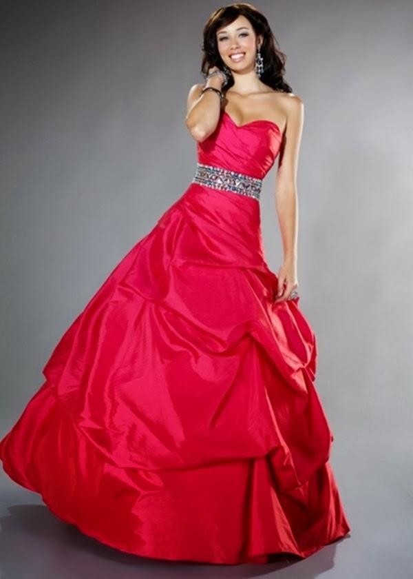 vestido rosa escuro