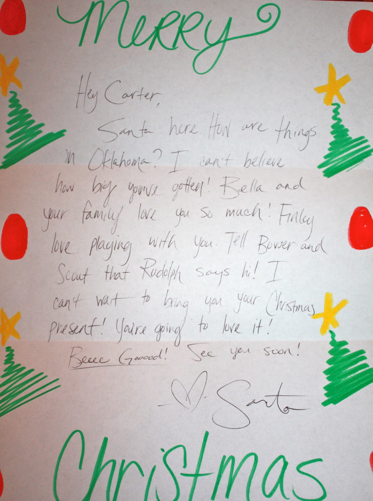 Letter From Santa To Kids Personal letter from santa