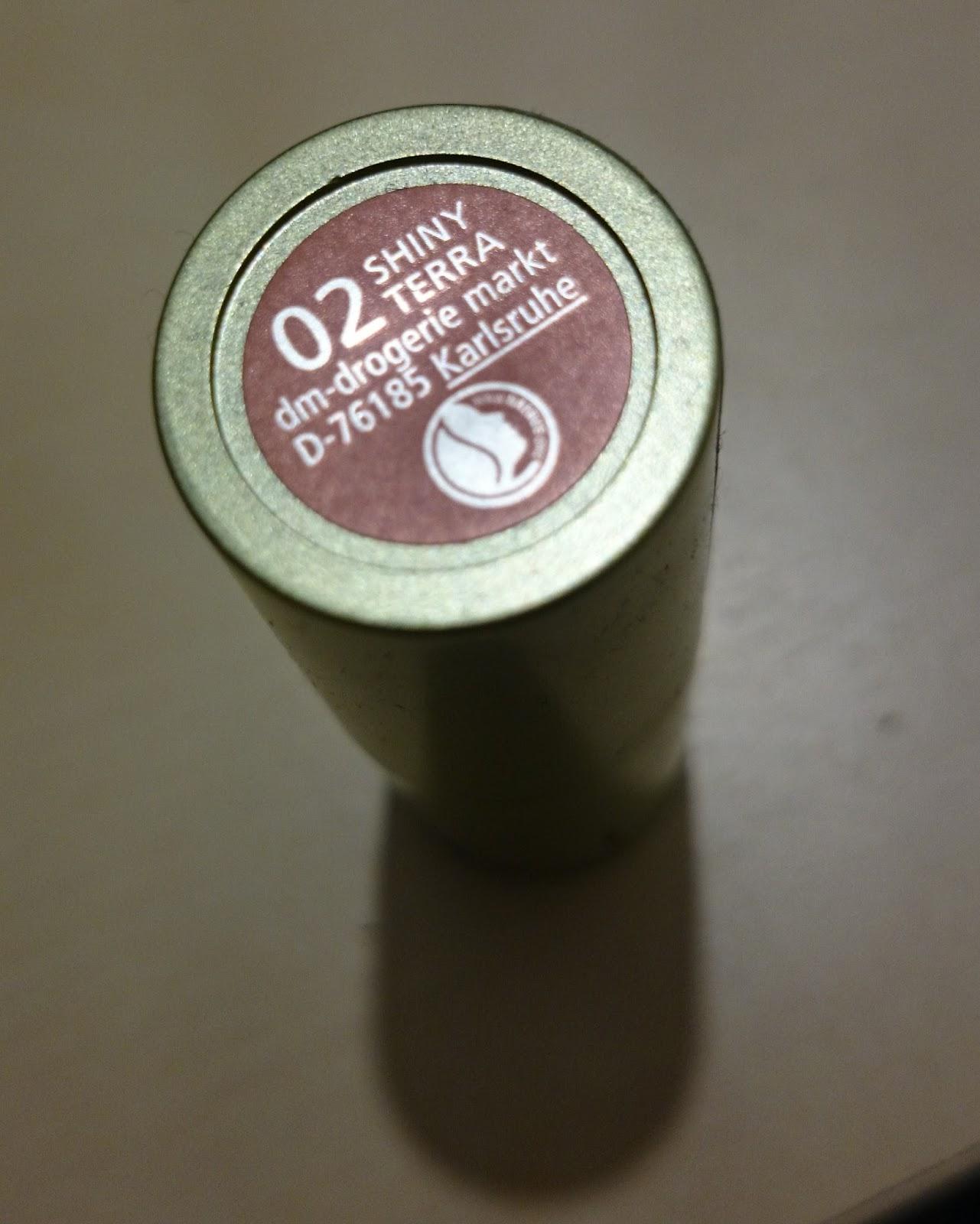 alverde Lippenstift 02 Shiny Terra Produkttest