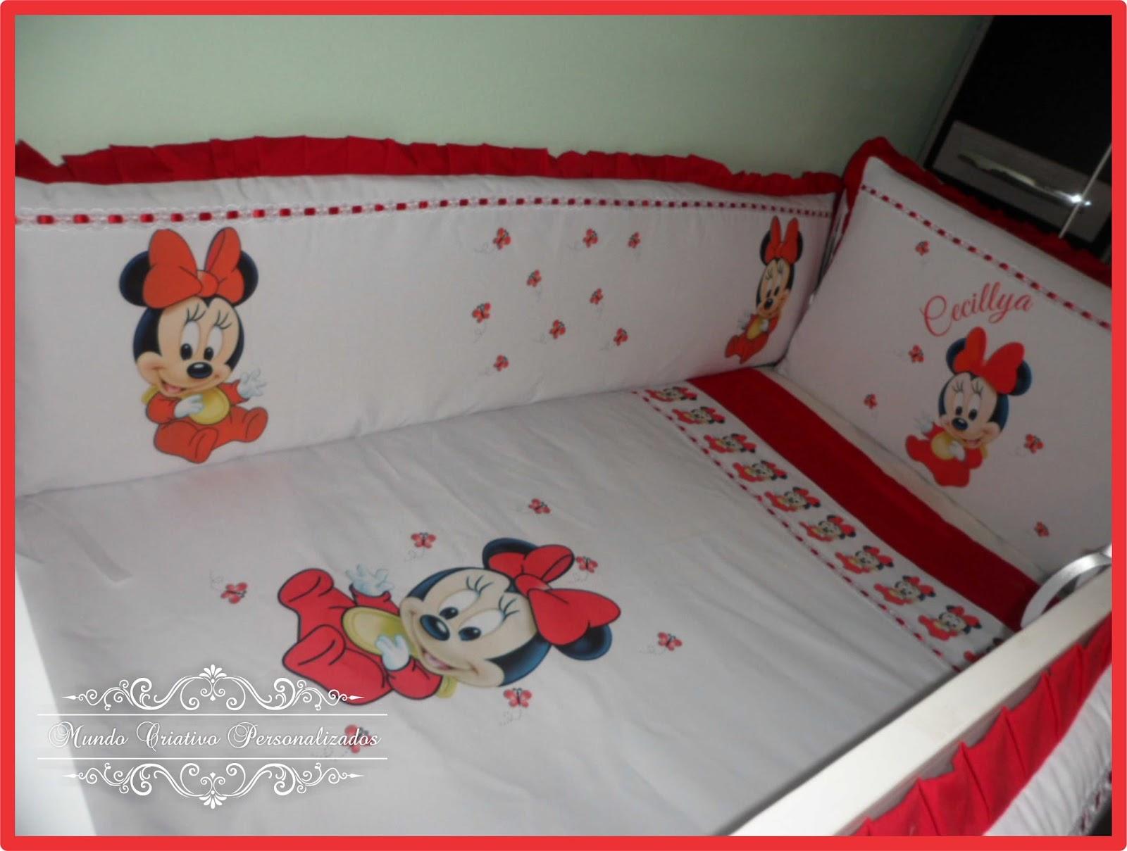 1f99385e09 Mundo Criativo Ateliê  Kit Berço Personalizado Minnie Vermelho