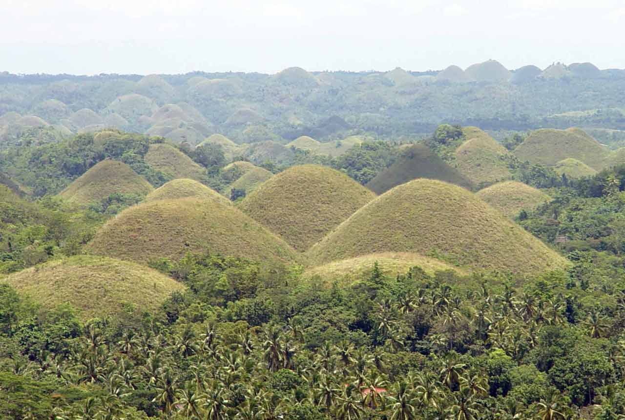 Chocolate hills are th...
