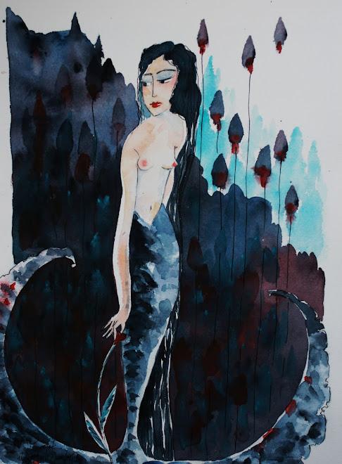 Sirène cueillant un coeur