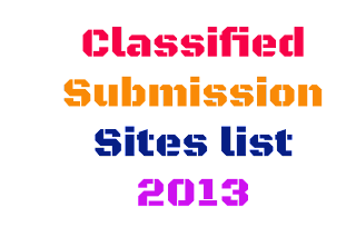 Auto Approve Free Classified Submission Sites list 2013