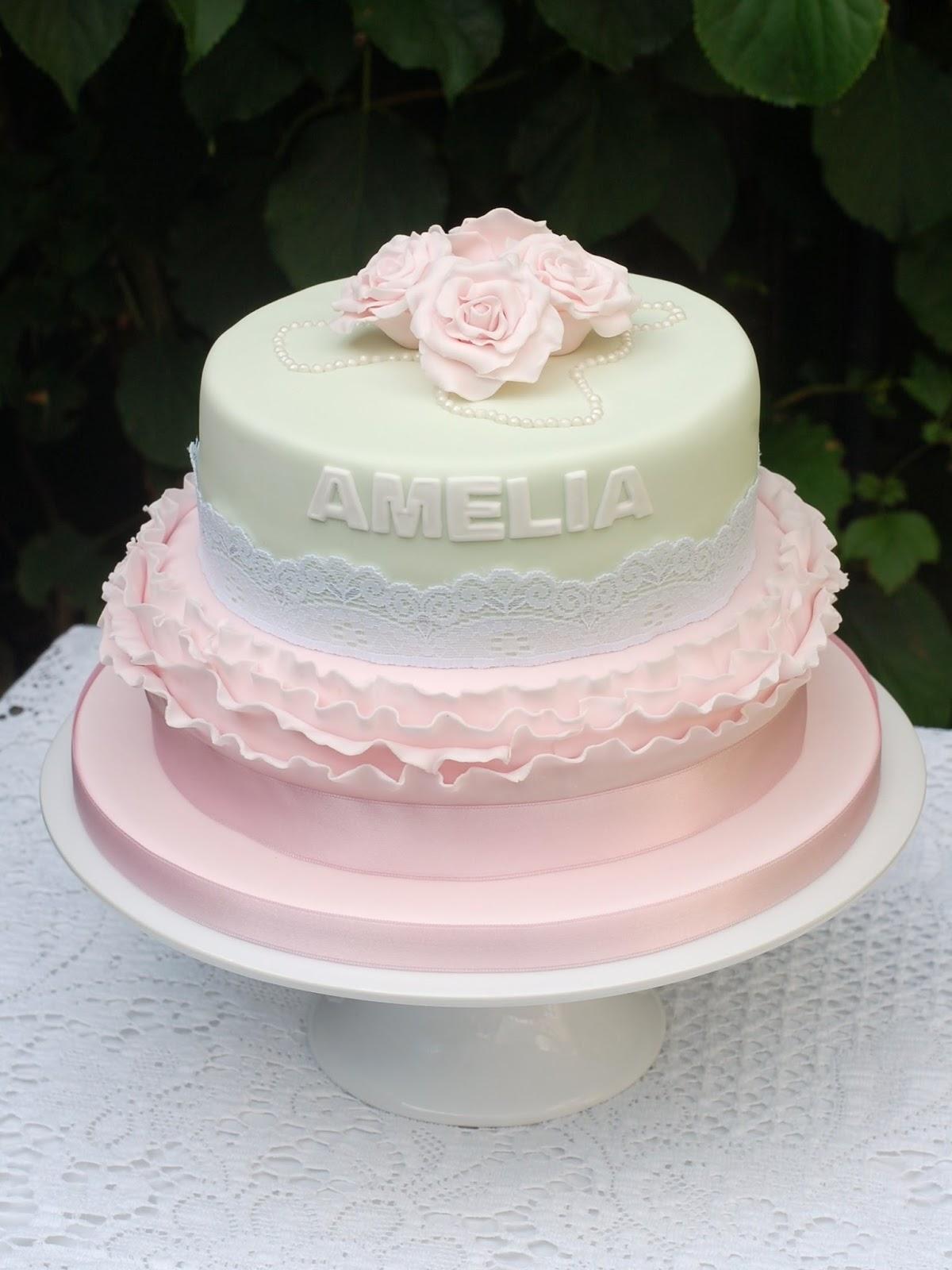 Vanilla Frost: Vintage Style Birthday Cake