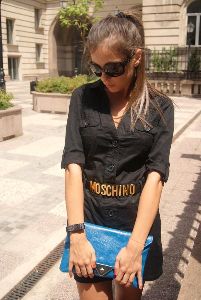 iheartmaya,i heart maya blog, guess black shirt dress, guess black shirtdress, gucci bows sunglasses, moschino gold letters belt