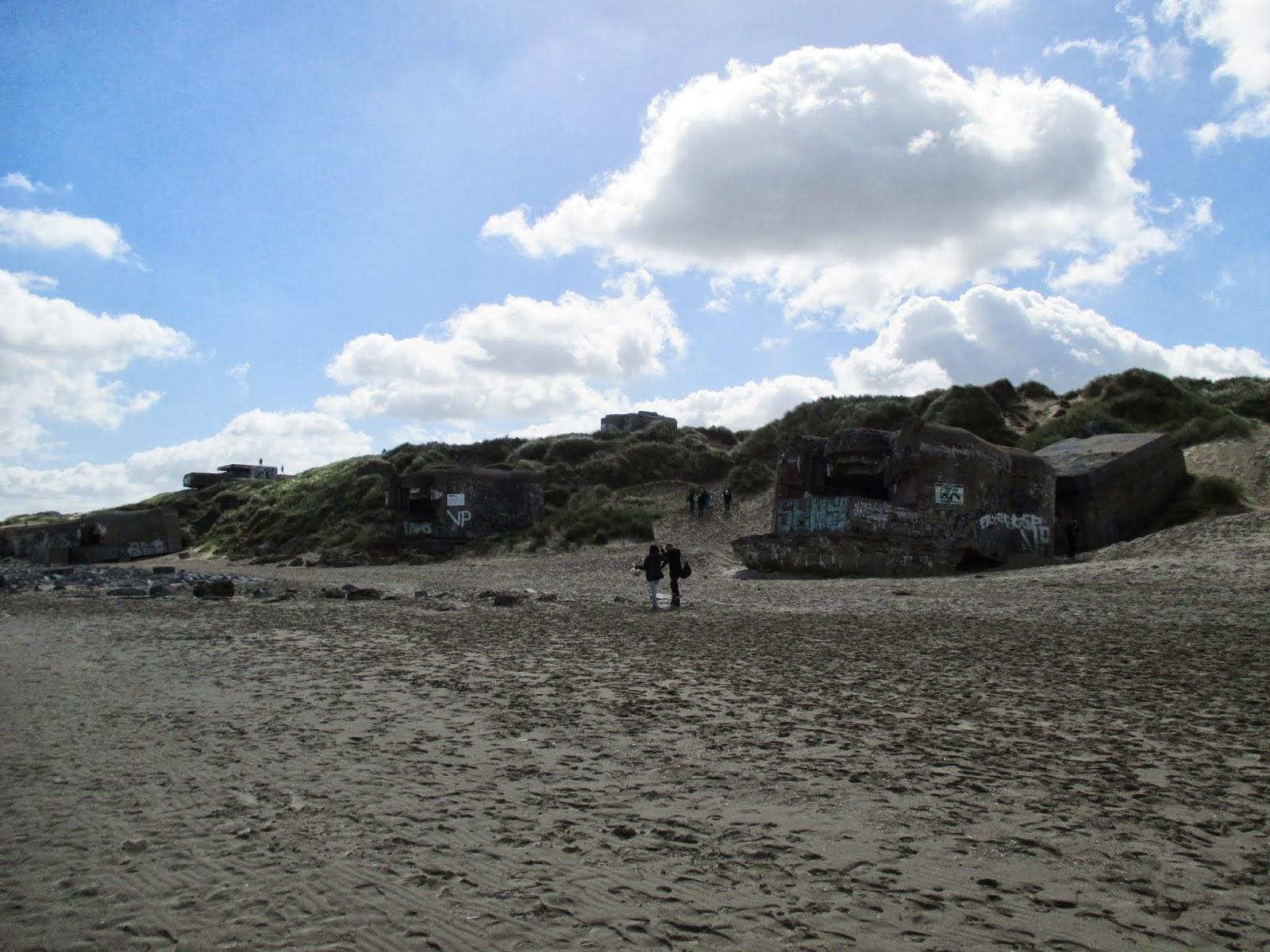 bunkers op het strand van Leffrinckoucke