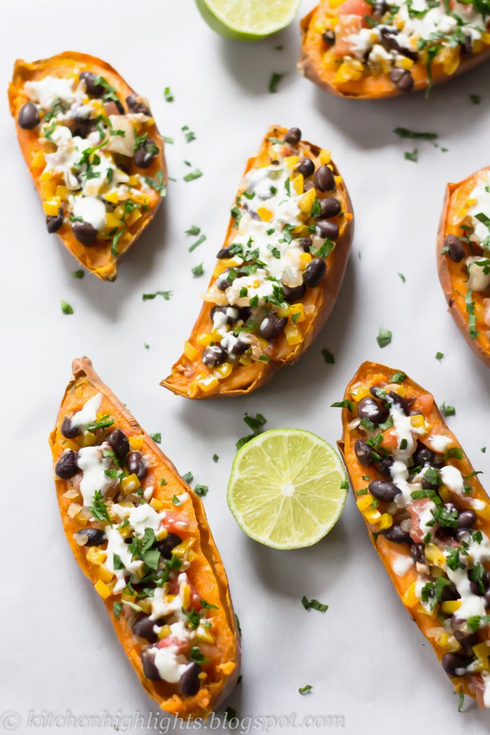 If you enjoy Mexican flavors than you will definitely love these delicious roasted sweet potato skins