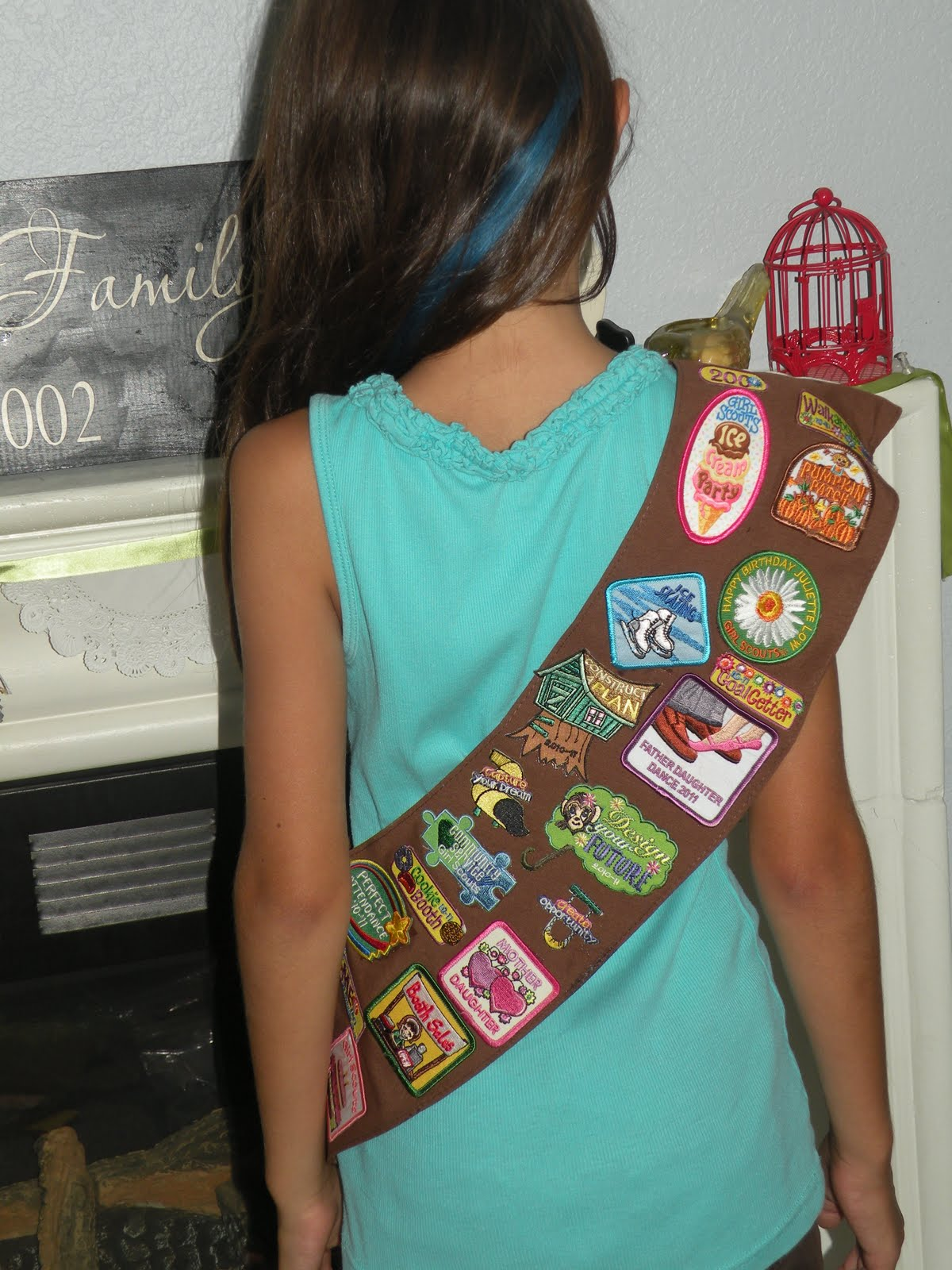Brownie fun patch placement