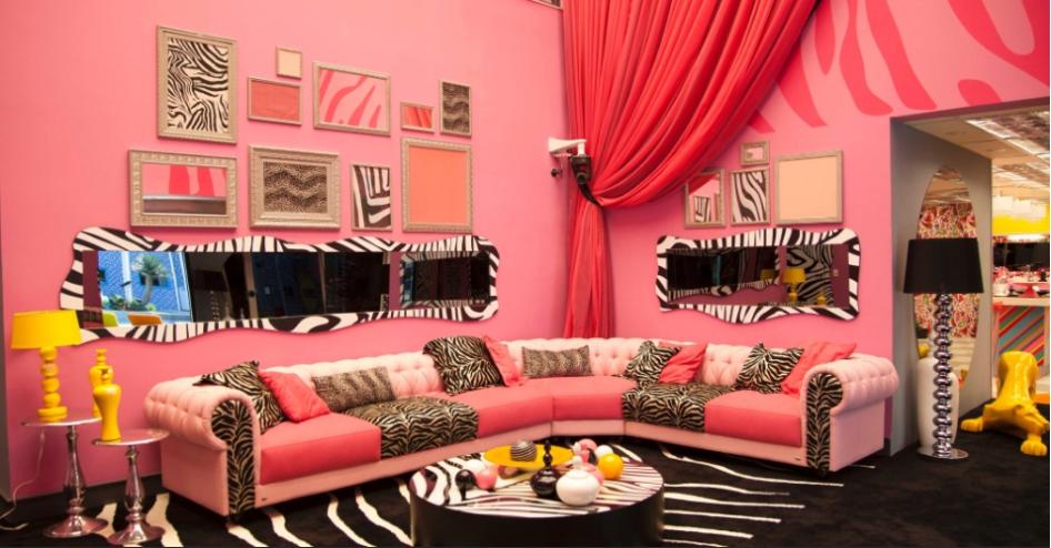 Sala De Estar Parede Rosa ~  Brasil 14!  Decor Salteado  Blog de Decoração e Arquitetura