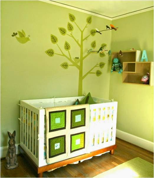 Chambre Verte Bebe  Rideaux vert pour chambre bébé verte OURS NUAGE