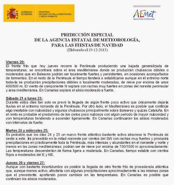 PREDICCIÓN DE NAVIDAD 2013