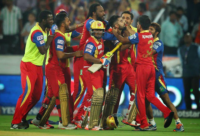 Royal Challengers Bangalore for a six-wicket win over Sunrisers Hyderabad in a thrilling finish
