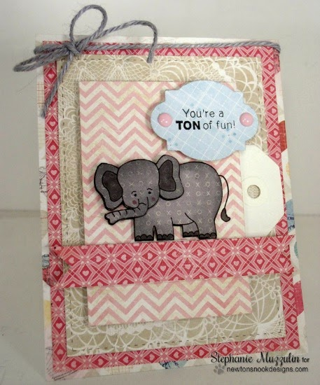 Ton of Fun Elephant Valentine Card by Stephanie Muzzulin | Newton's Nook Designs | Wild about Zoo Stamp Set