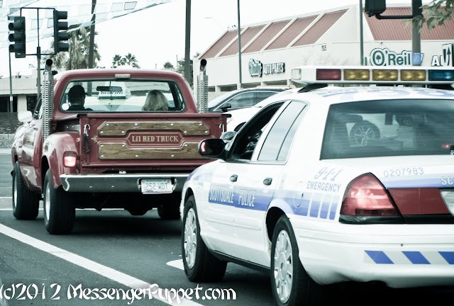 Dodge Little Red Truck cop