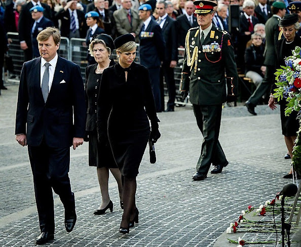 King Willem-Alexander and Queen Maxima of The Netherlands attended the National Remembrance ceremony at the National Monument on Dam Square in Amsterdam