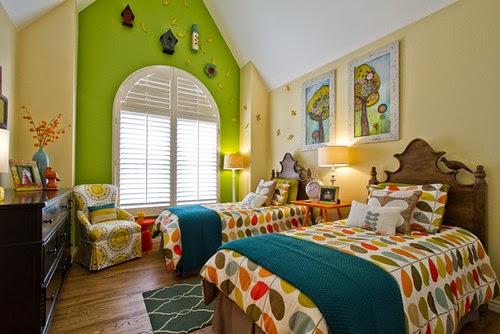 Perpaduan warna cat untuk kamar tidur anak
