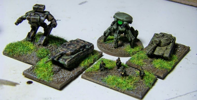 6mm, 1/300th, 1/300 Sci Fi GZG, Ground Zero Games being painted