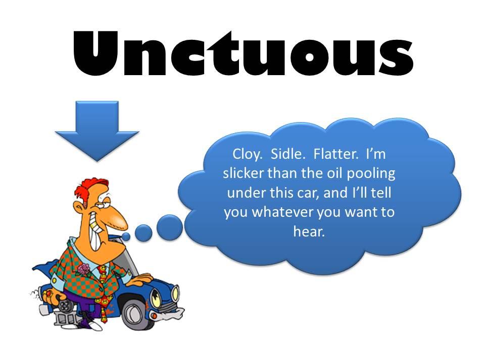 Unctuous definition