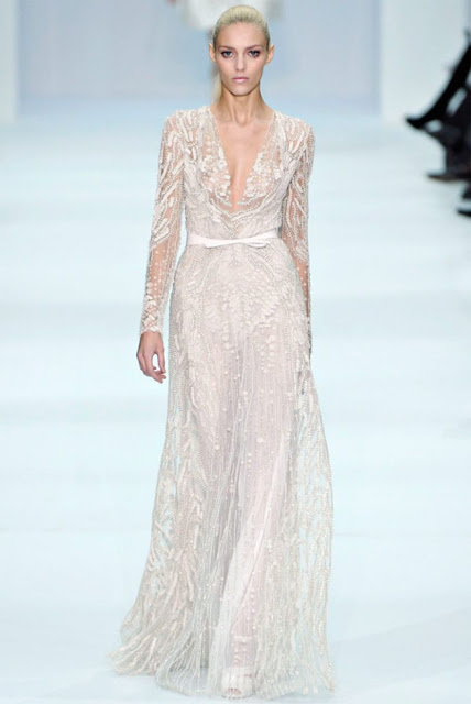 elie saab long sleeved wedding dress