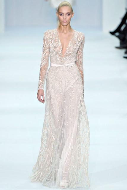 elie saab long sleeved wedding dress