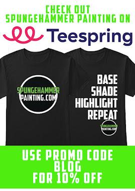 Spungehammer painting T-shirts