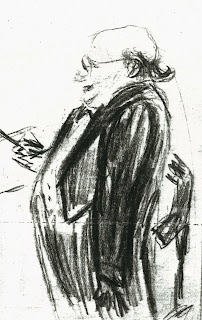 Josef Krips drawn by Felicja Blumental