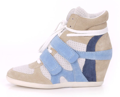 Ash wedge trainers in blue