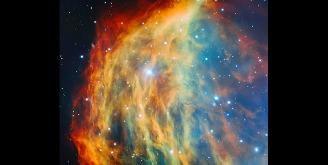 ESO's Very Large Telescope in Chile has captured the most detailed image ever taken of the Medusa Nebula (also known Abell 21 and Sharpless 2-274). As the star at the heart of this nebula made its final transition into retirement, it shed its outer layers into space, forming this colourful cloud. The image foreshadows the final fate of the Sun, which will eventually also become an object of this kind. Credit: ESO