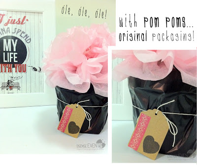 packaging with pom poms