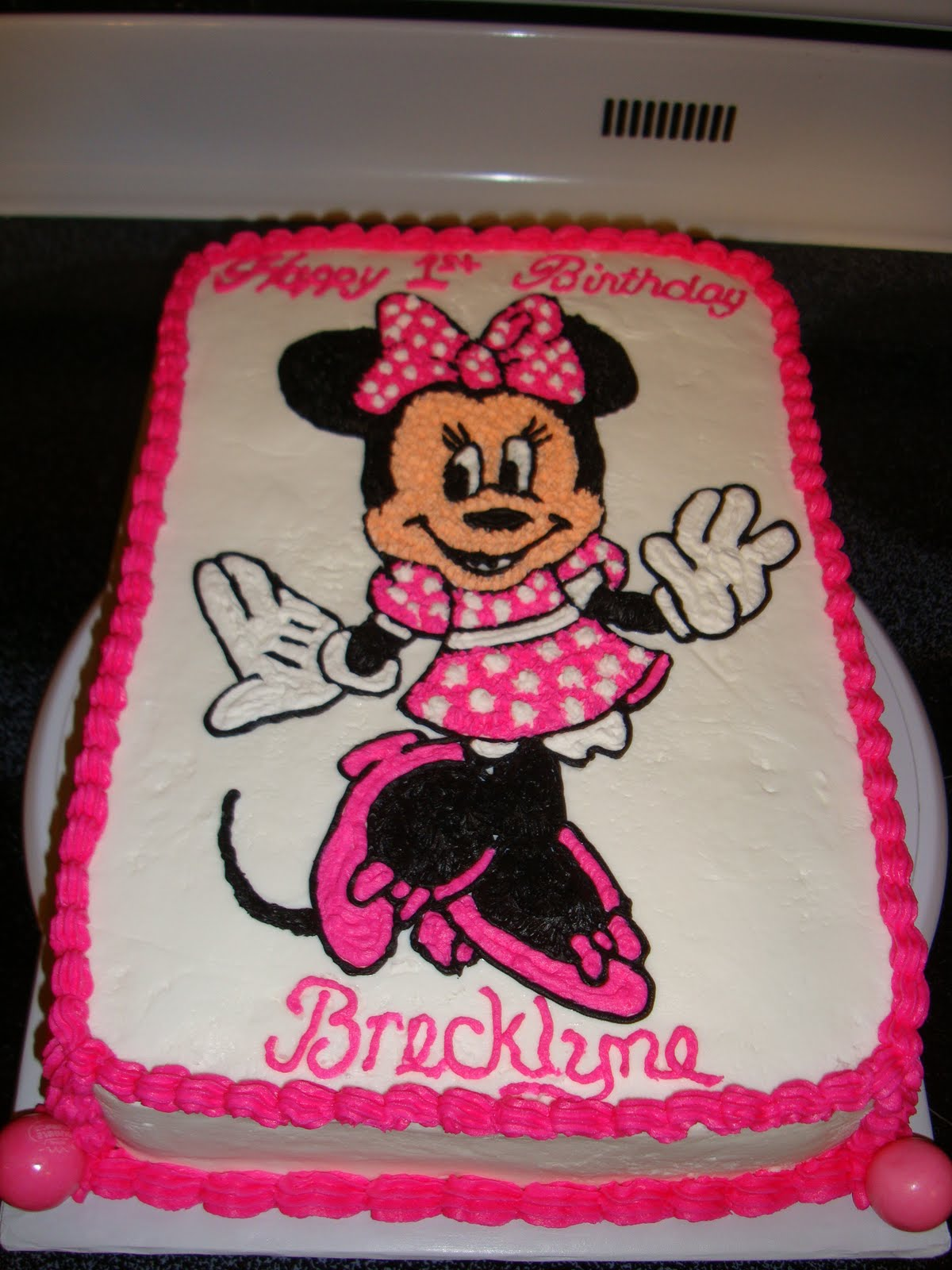 Minnie Mouse Sheet Cake Images : Caketacular: Minnie Mouse Sheet Cake