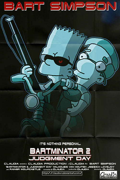 posters cinema simpsons - Terminator 2