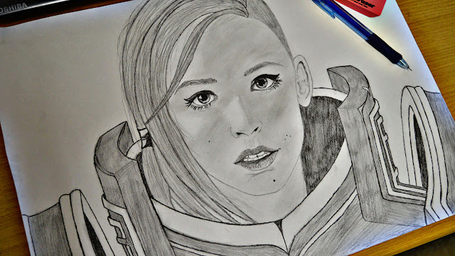 Drawing fan art of Johanna from Hots - part 5