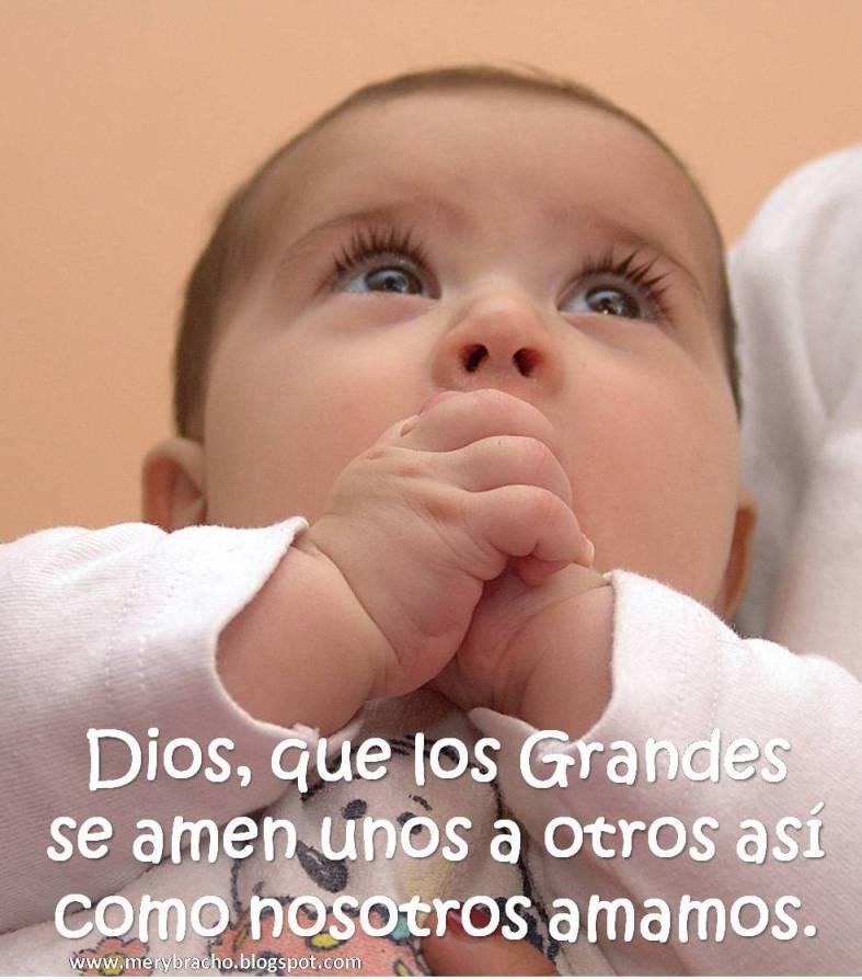postales cristianas Dios, qué los grandes se amen