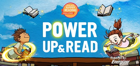 Power Up and Read logo
