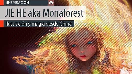 Ilustración y magia de JIE HE aka Monaforest