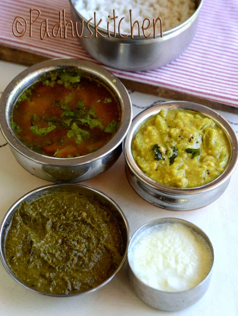 South Indian Lunch Ideas