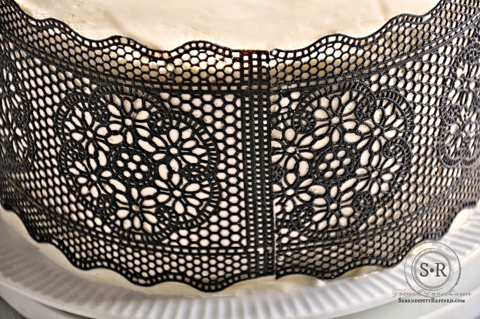 Serendipity Refined Blog Easy Chocolate Lace Cake
