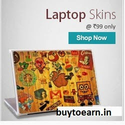 Shopclues: Buy Laptop Skin and Rs.2 cashback at Rs.79 (New PayUMoney users) or at Rs.99