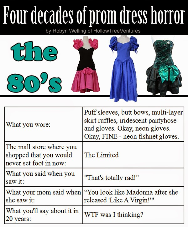 prom dresses through four decades - the 80s by Robyn Welling @RobynHTV