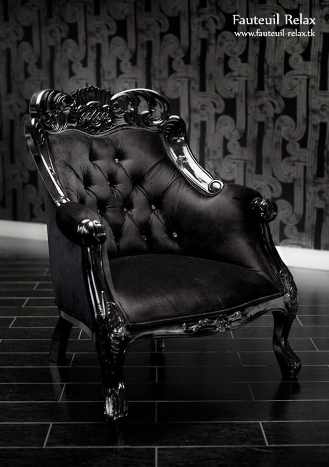 fauteuil baroque velour noir fauteuil relax. Black Bedroom Furniture Sets. Home Design Ideas