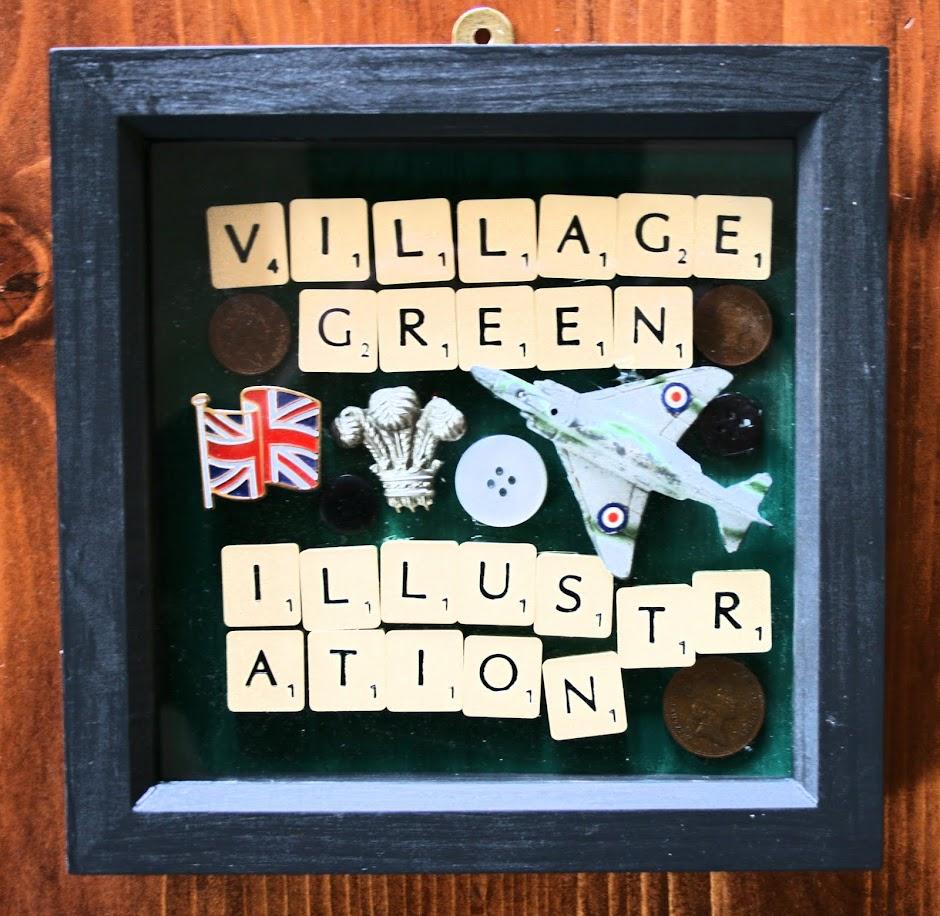Village Green Illustration