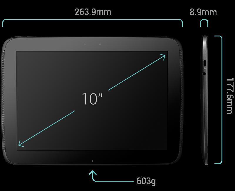Samsung Google Nexus 10 Specs