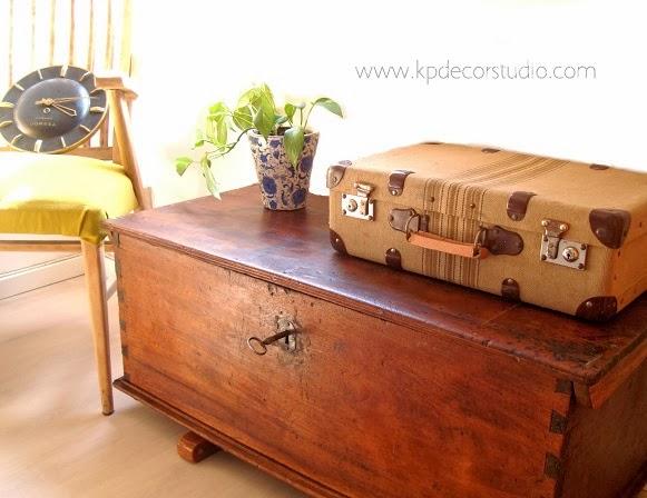 Kp tienda vintage online maleta de viaje vintage vintage suitcase m23 - Baules antiguos ...