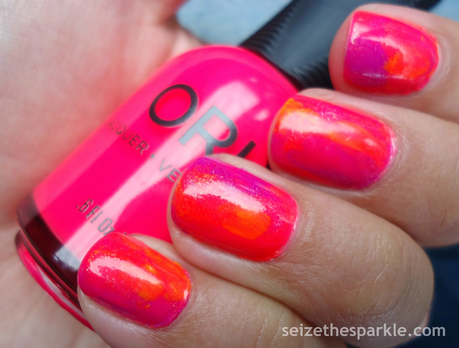 Orly Neon Watercolor Manicure