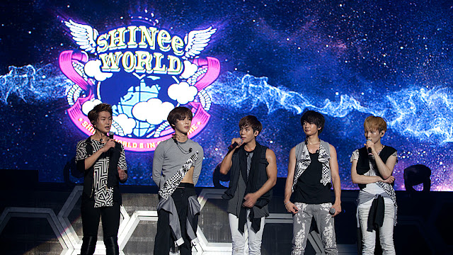 SHINee talking at the SHINee World Arena Tour