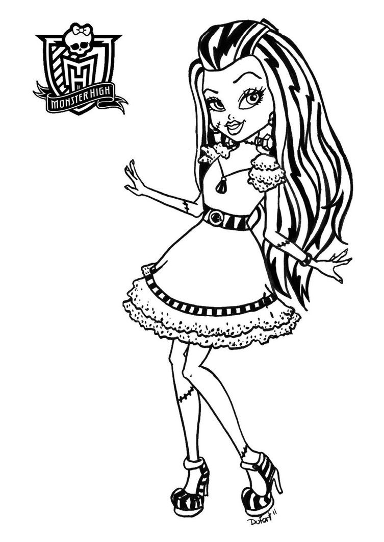 small monster high coloring pages - photo#10
